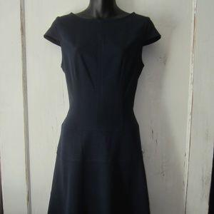 Chaps Cap Sleeve Navy Blue Dress - Size 6